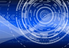Free vector technology background in blue tones #1648