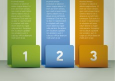Free vector Three colored banners infographic #1839