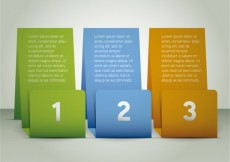 Free vector Three colorful banners infographic #1838