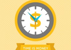Free vector Time is money #1194