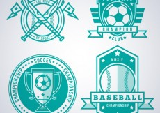 Free vector Turquoise sport badges #3242
