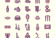 Free vector Variety of beauty icons #534