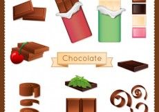 Free vector Variety of chocolate #473