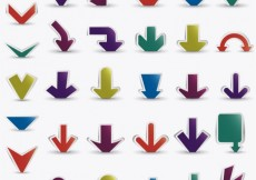 Free vector Variety of colored arrows #3065