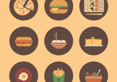 Free vector Variety of food #3267