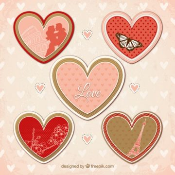 Free vector variety of hearts for valentines day #823