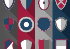 Free vector Variety of medieval shields #1534