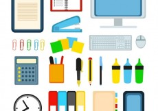 Free vector Variety of office supplies #561