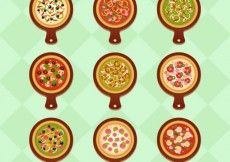 Free vector Variety of pizzas #3591