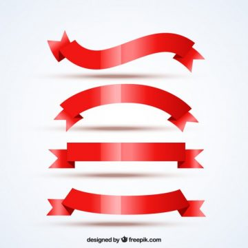 Free vector Variety of red ribbons #2262