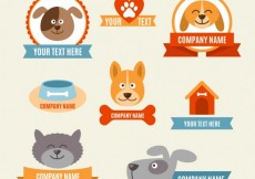 Free vector Veterinary badges #2631
