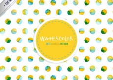 Free vector Watercolor dots pattern #3976