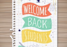 Free vector Welcome back students #1445
