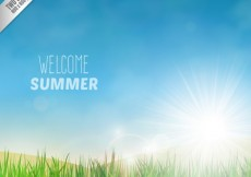 Free vector Welcome summer background with a meadow #2969
