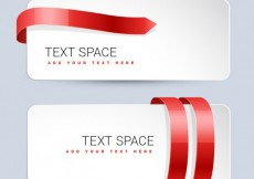 Free vector White banners with red ribbons #2267