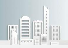 Free vector White city buildings #651