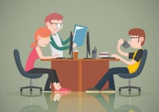 Free vector Young office workers #86