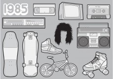 Free vector 1985 – A Free Vector Pack of 80s Icons #8832