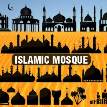 Free vector 30 Islamic mosque #9858