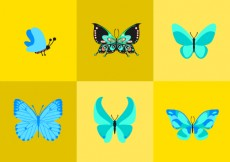 Free vector Cartoon Butterfly Vectors #5694
