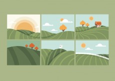 Free vector Rolling Hills Illustrations #4154