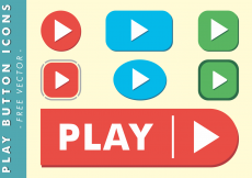 Free vector Play Button Icons Free Vector #4413