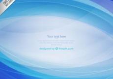 Free vector Abstract background with blue waves #11757