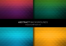 Free vector Abstract backgrounds in polygonal style #4041