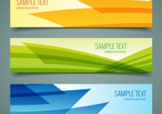 Free vector Abstract banners pack #4811