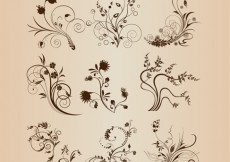 Free vector Abstract Floral Design Elements Vector Set #5428
