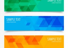 Free vector Abstract geometric triangular banners #6900
