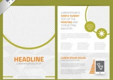 Free vector Abstract leaflet template #6040