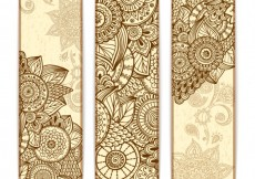 Free vector Abstract mandala banners #8905