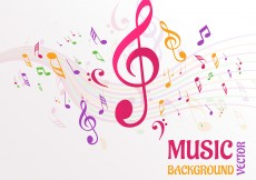 Free vector Abstract Music Notes Background Vector #10436