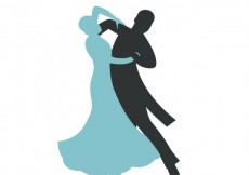 Free vector Abstract silhoutte of a couple dancing #9690