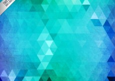 Free vector Abstract triangles background in green tones #11004