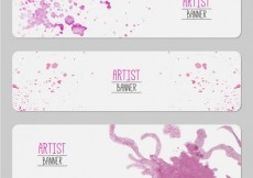 Free vector Artist banners #12039