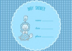 Free vector Baby shower card template #6687