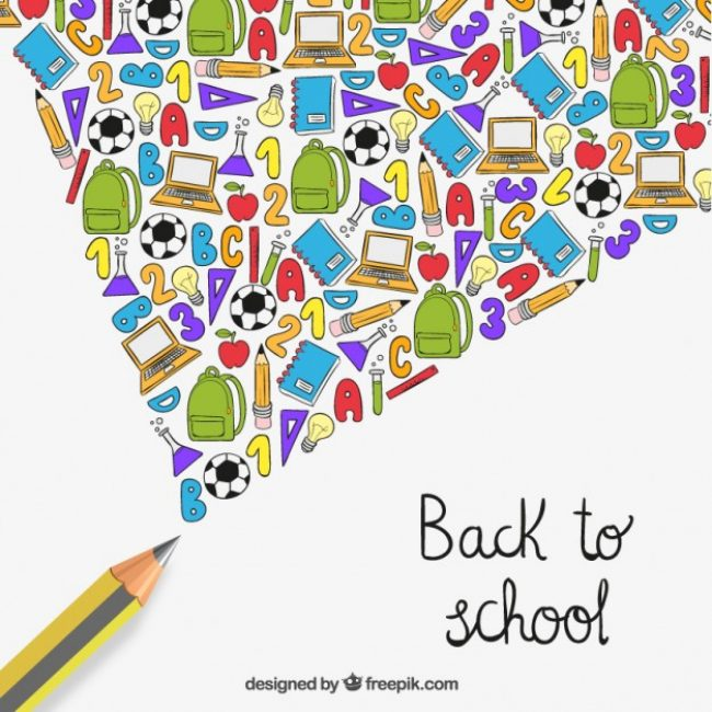 Free vector Back to school elements in hand drawn style #5682