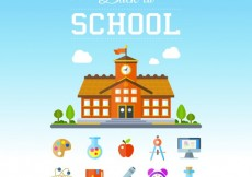 Free vector Back to school elements #5769