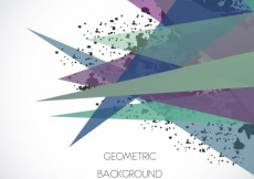 Free vector Background with colorful triangles and stains #7793