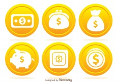 Free vector Bank Coin Icons #4440