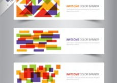 Free vector Banners template with colored shapes #6047