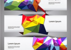 Free vector Banners with colorful polygons #10017
