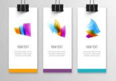 Free vector Banners with colorful shapes #6019