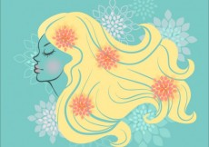 Free vector Beautiful woman with long hair #8755