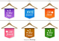 Free vector Best sale and quality labels #10548