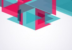 Free vector Blackground with blue and pink triangles #7803