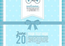 Free vector Blue baby shower card  #4255