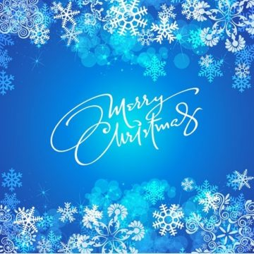 Free vector Blue Christmas Background #5613